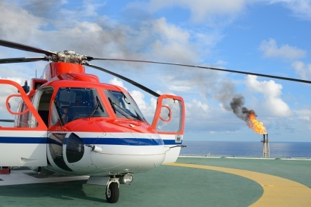 Helicopter Oil Rig